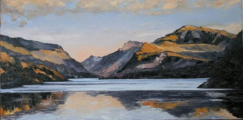Llyn Padarn Llanberis 80x40cm. £1045 oil on canvas