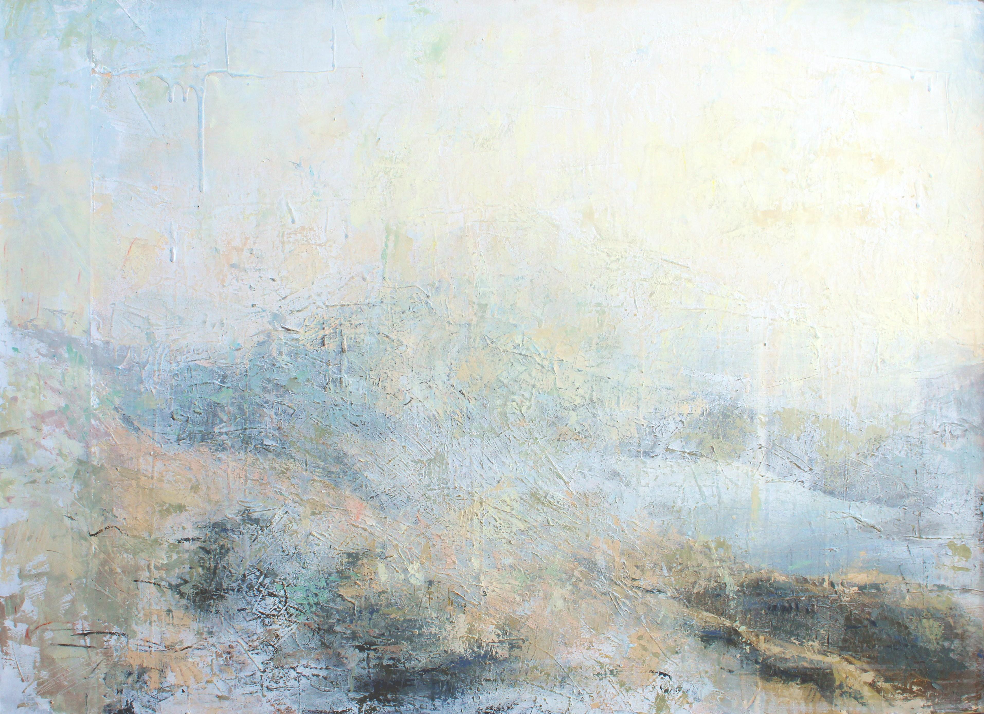 Lumiere - Snowdon    80 x 110 cm    Mixed Media