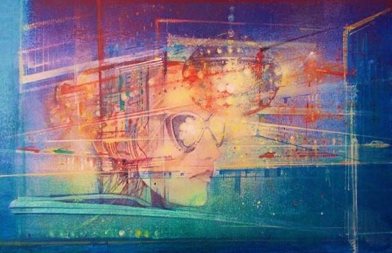 Mirrorball   Acrylic on Canvas   16 x 24 ins
