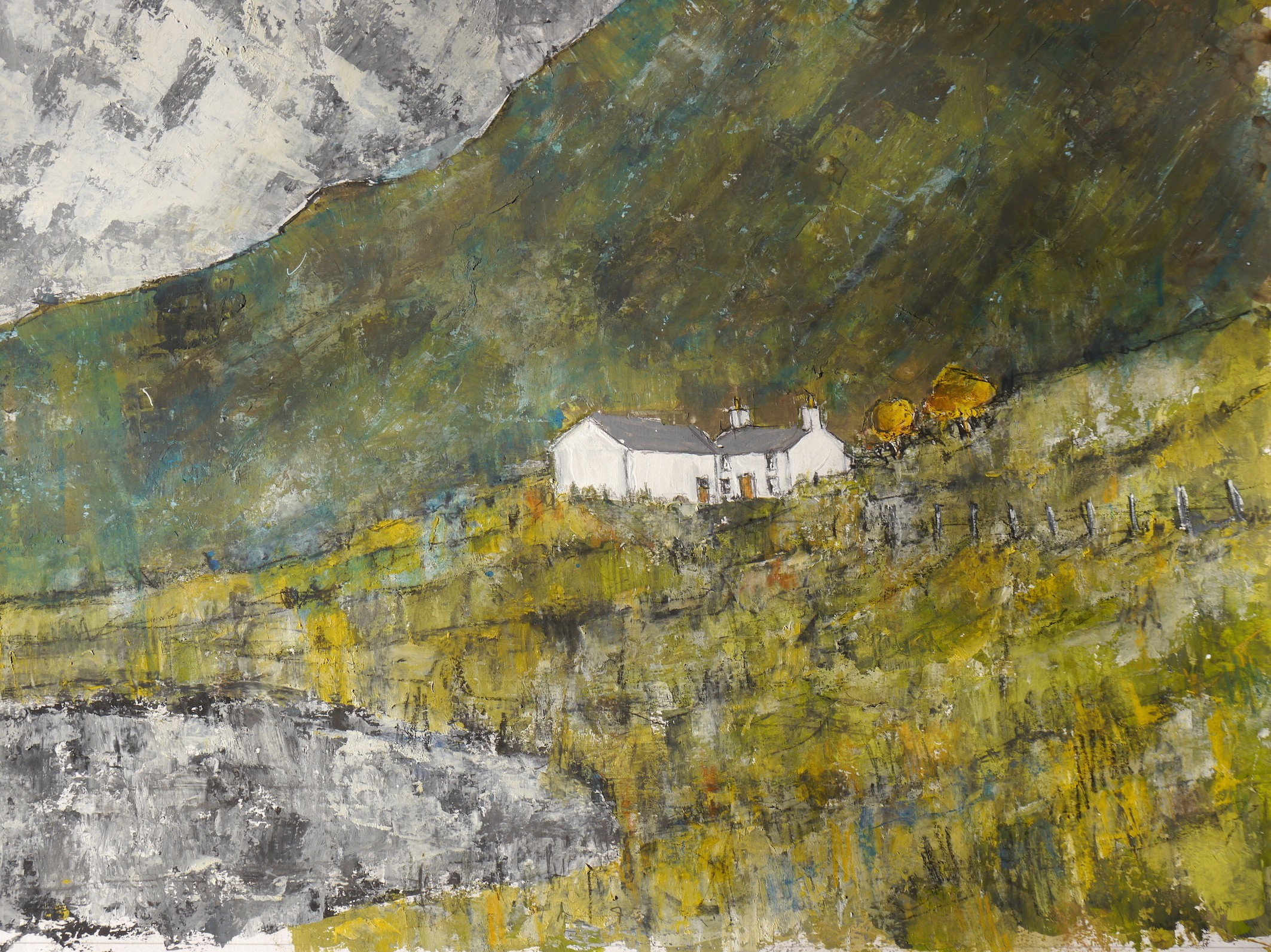 Near Capel Curig   50x70 cm   Acrylic on paper    UNMOUNTED AND UNFRAMED