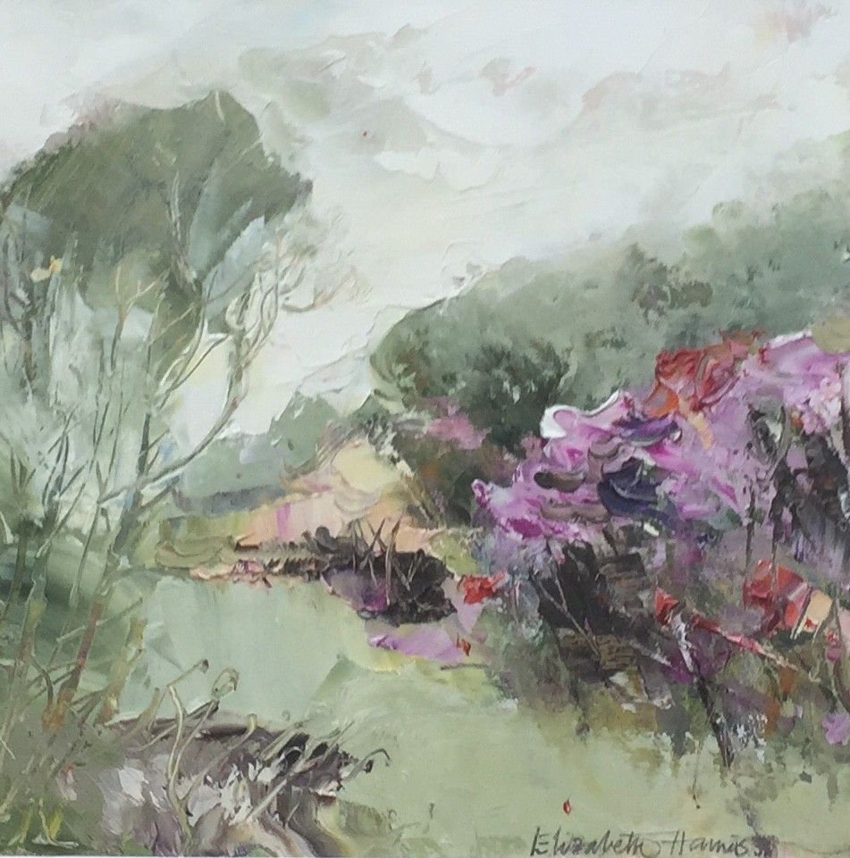 "Elizabeth Haines ""October Garden I"" ( 19 x 14 CM) Oil"