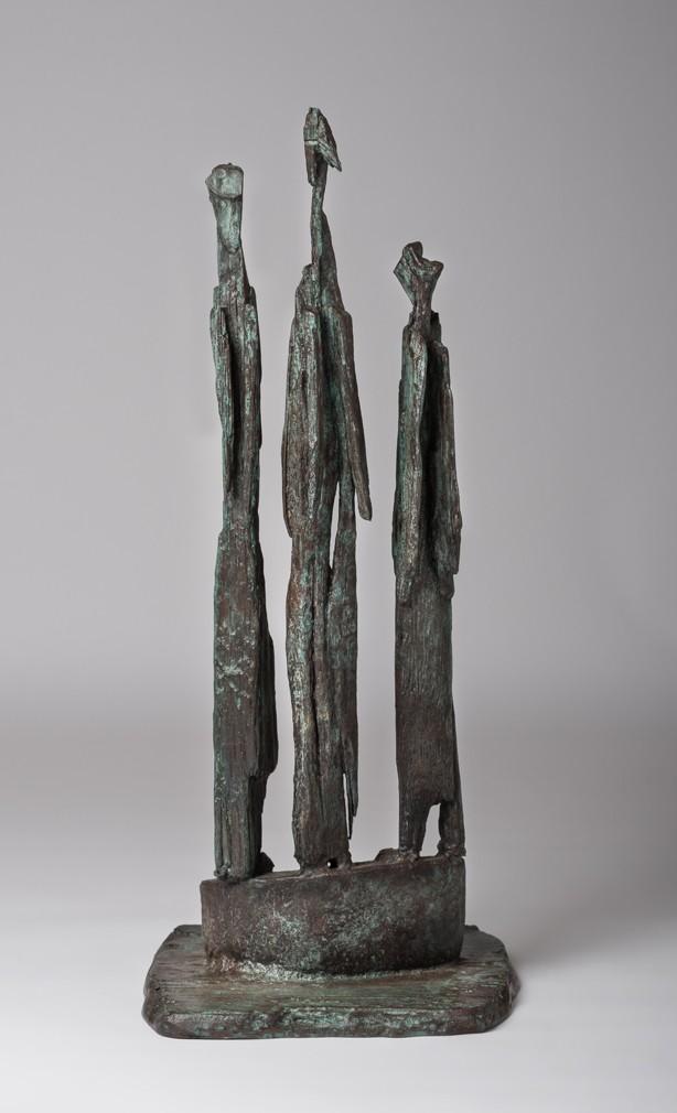 Three Angels, bronze, edition of 7, ht 70 x w 28.5 x d 31 cms