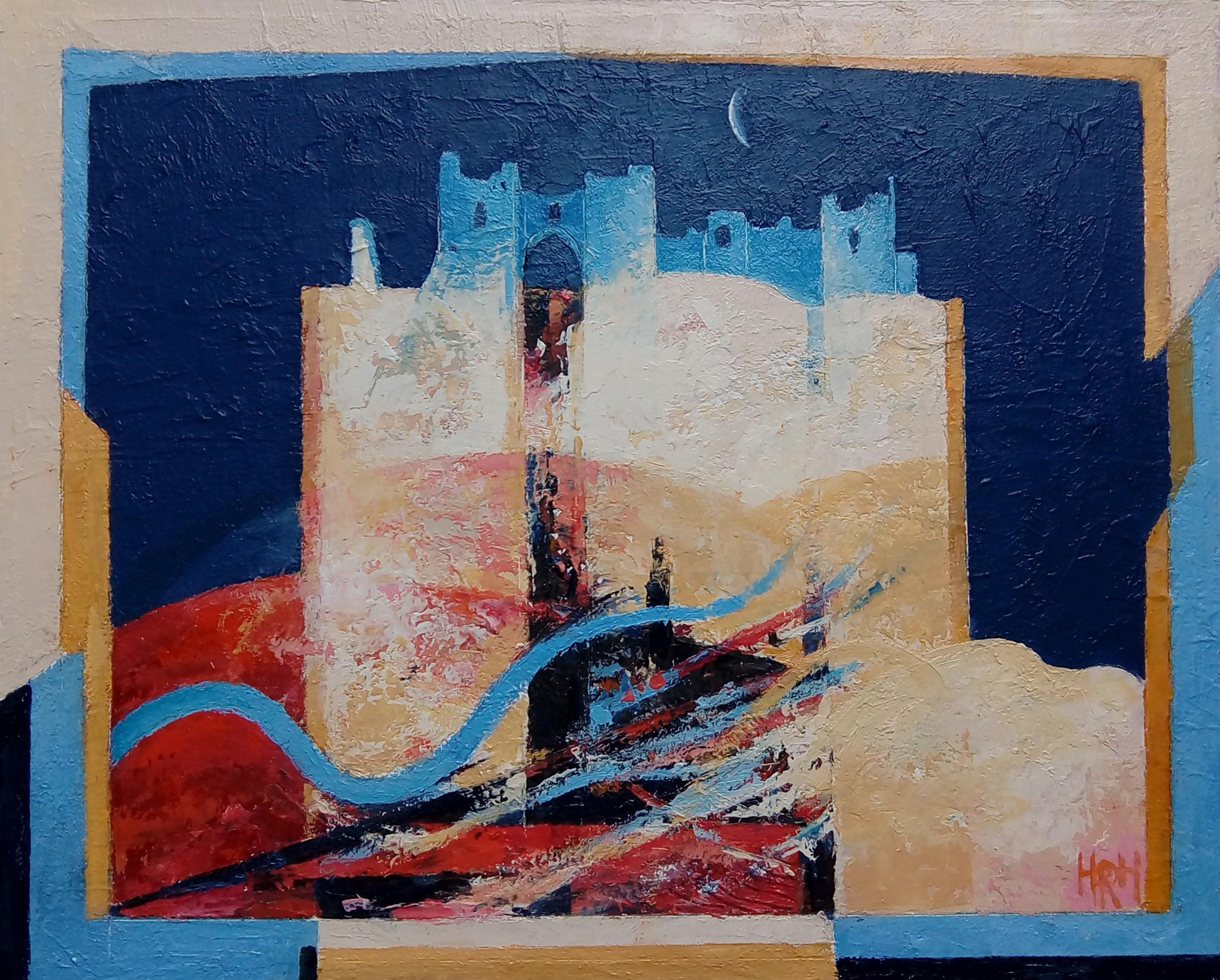 Pennard Castle   24 x 29 cm   Alkyd Oils