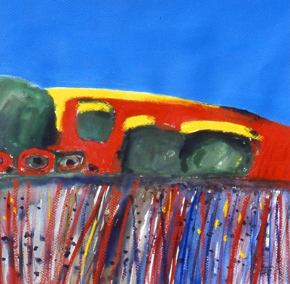 Rainbow landscape, dark valley mm 1994
