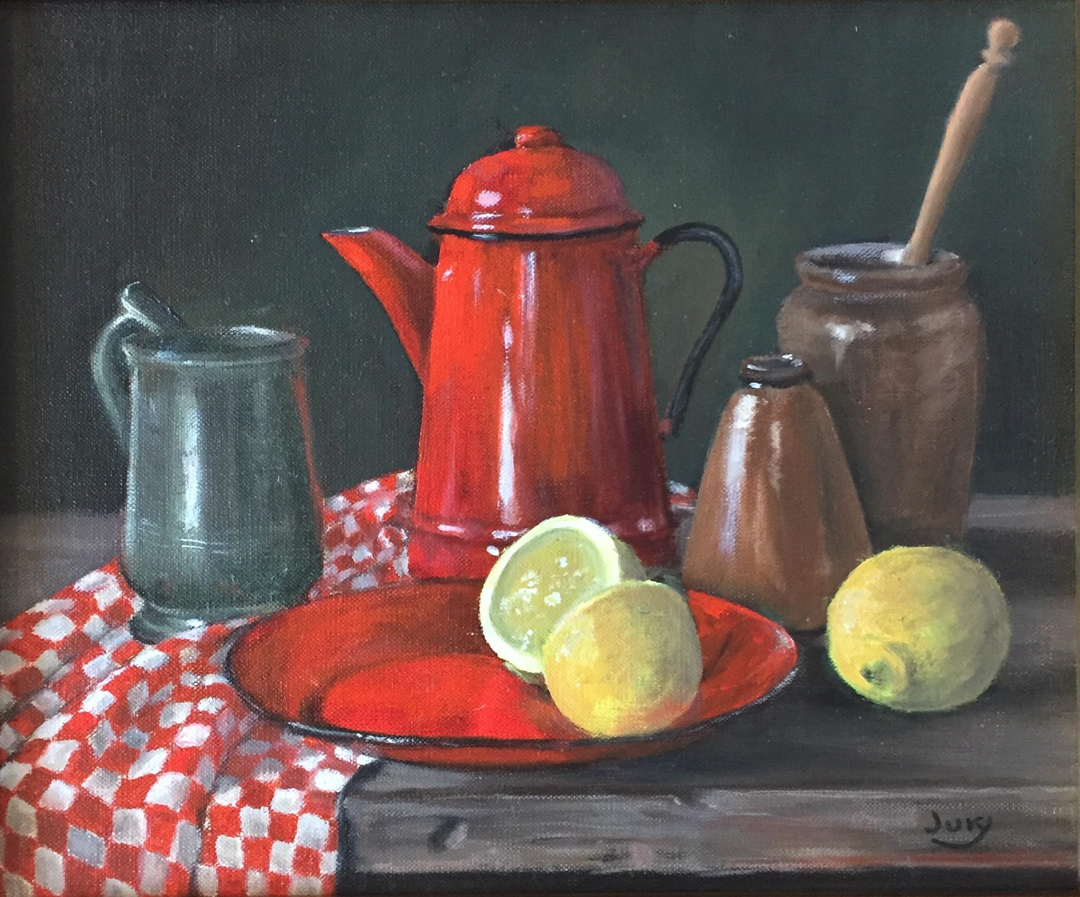 Red Pot, Oil, 24 x 29 cm, £350.jpg