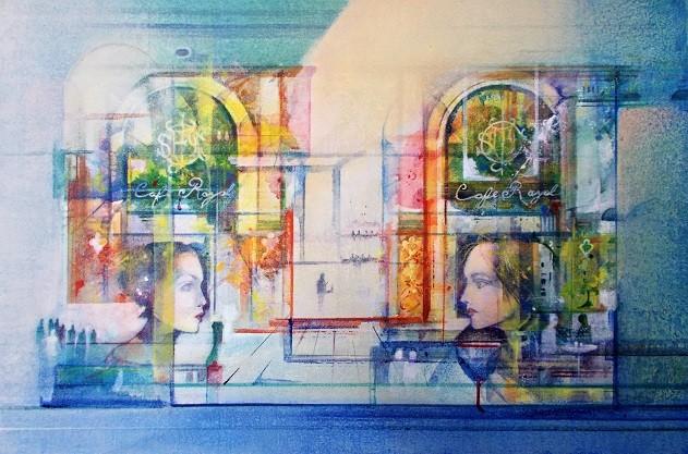 Cafe Royal   Acrylic on Canvas   16 x 24 ins