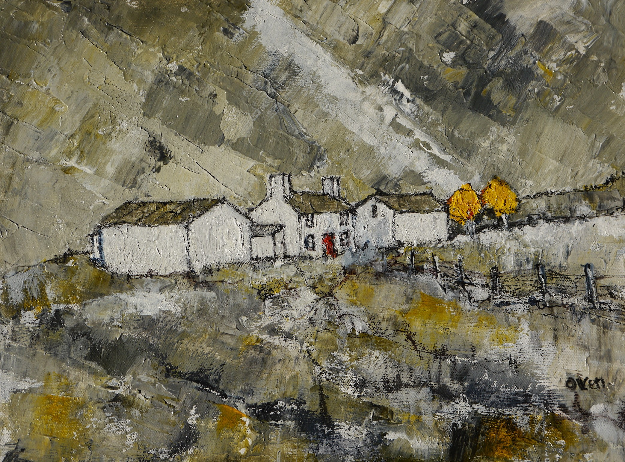 Snowdonia Farm  30x40 cm   Acrylic on Paper   MOUNTED NOT FRAMED