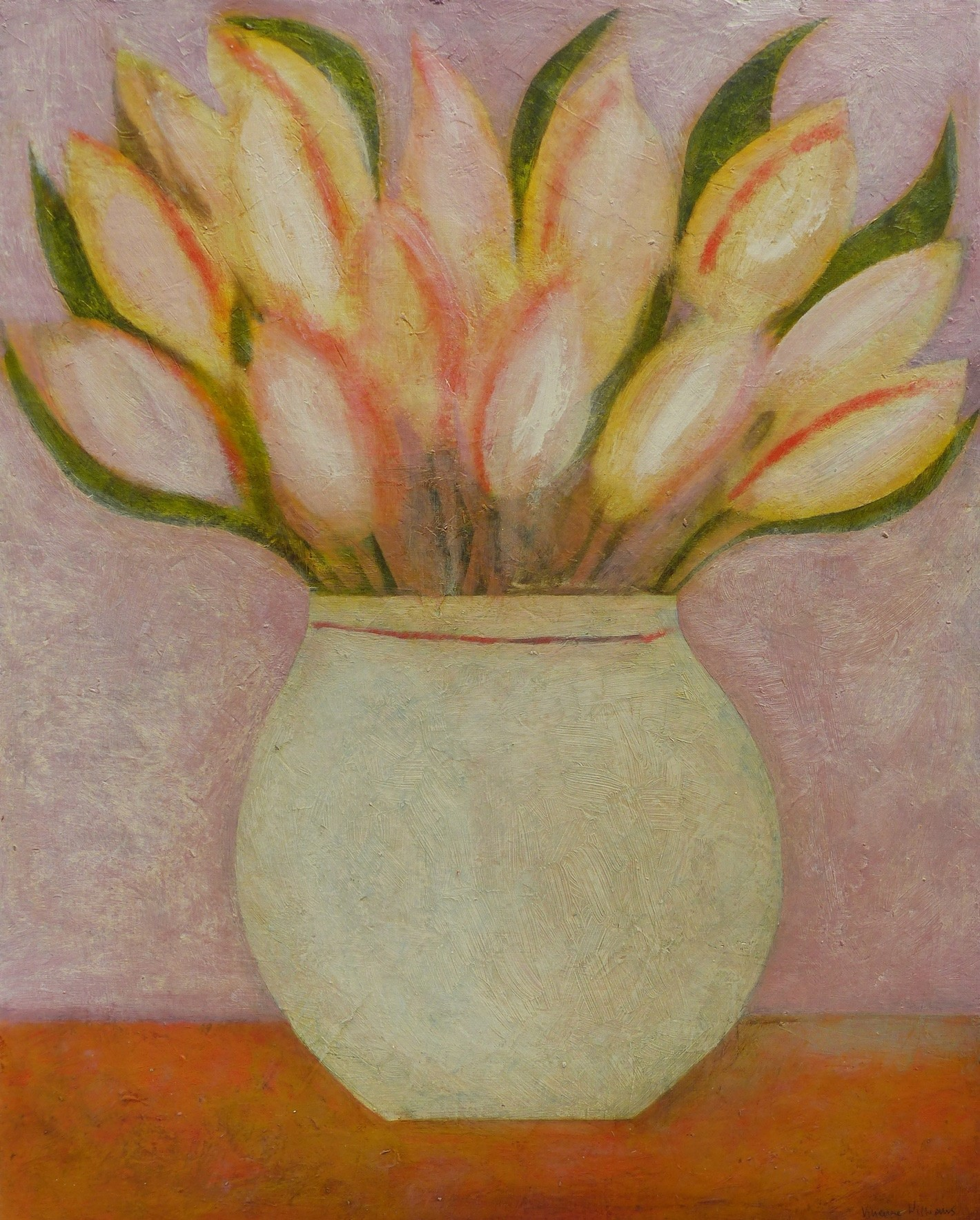 Vivienne Williams 'Spring Tulips' Acrylic on Paper (51 X 41 cm)