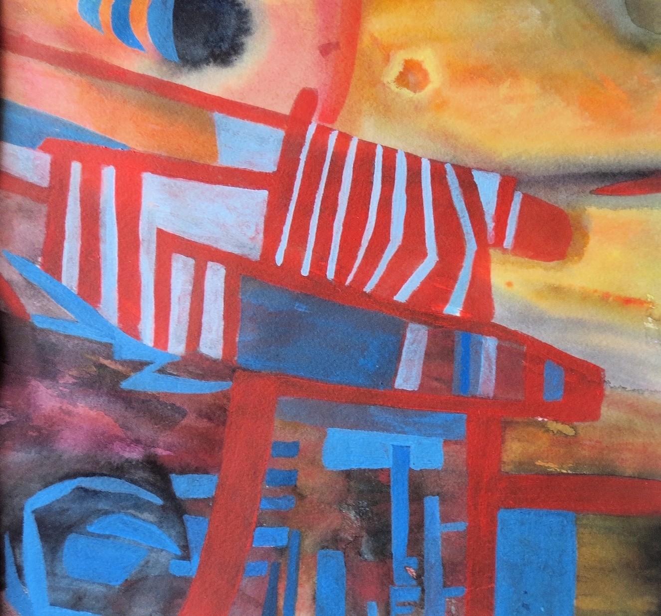 """Carolyn Little """"Fusion 4"""" Acrylic, (20x 20 cm)"""