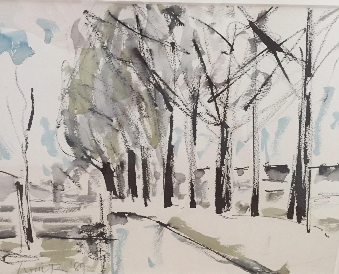 Tree Lined Boulevard   11x15 ins   Mixed Media