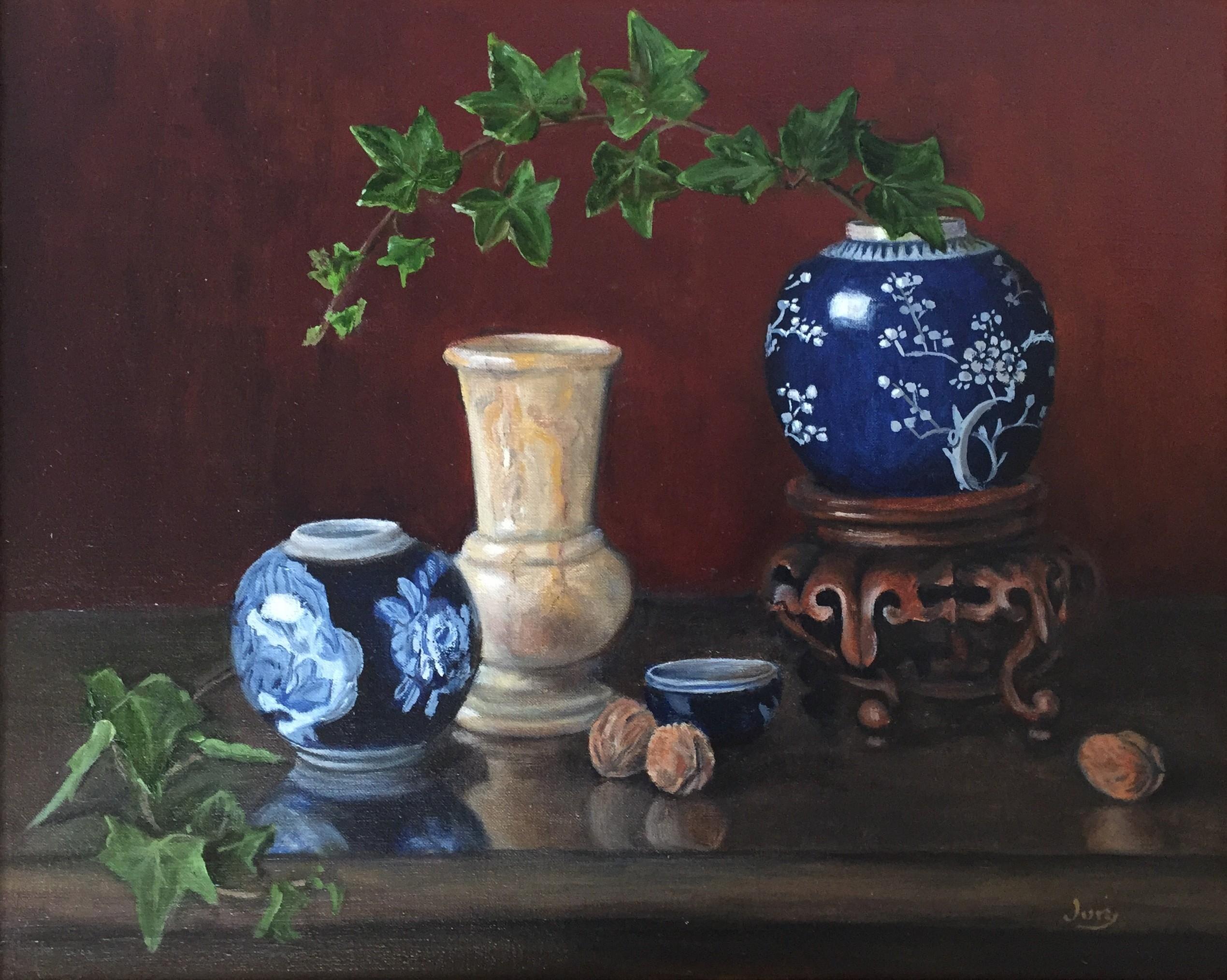 Two Ginger Jars, Oil, 40 x 50 cm, £450