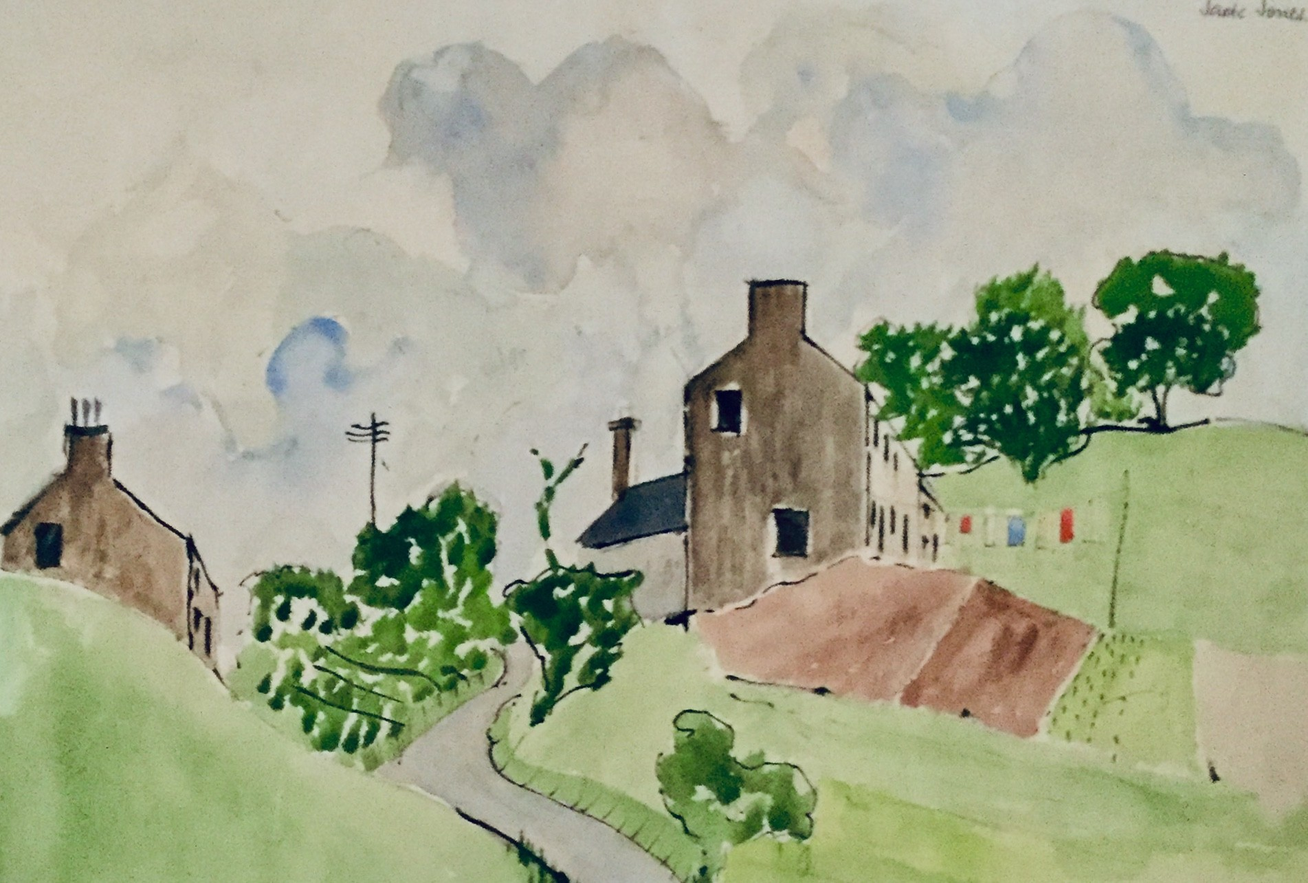House on the Hill, Watercolour