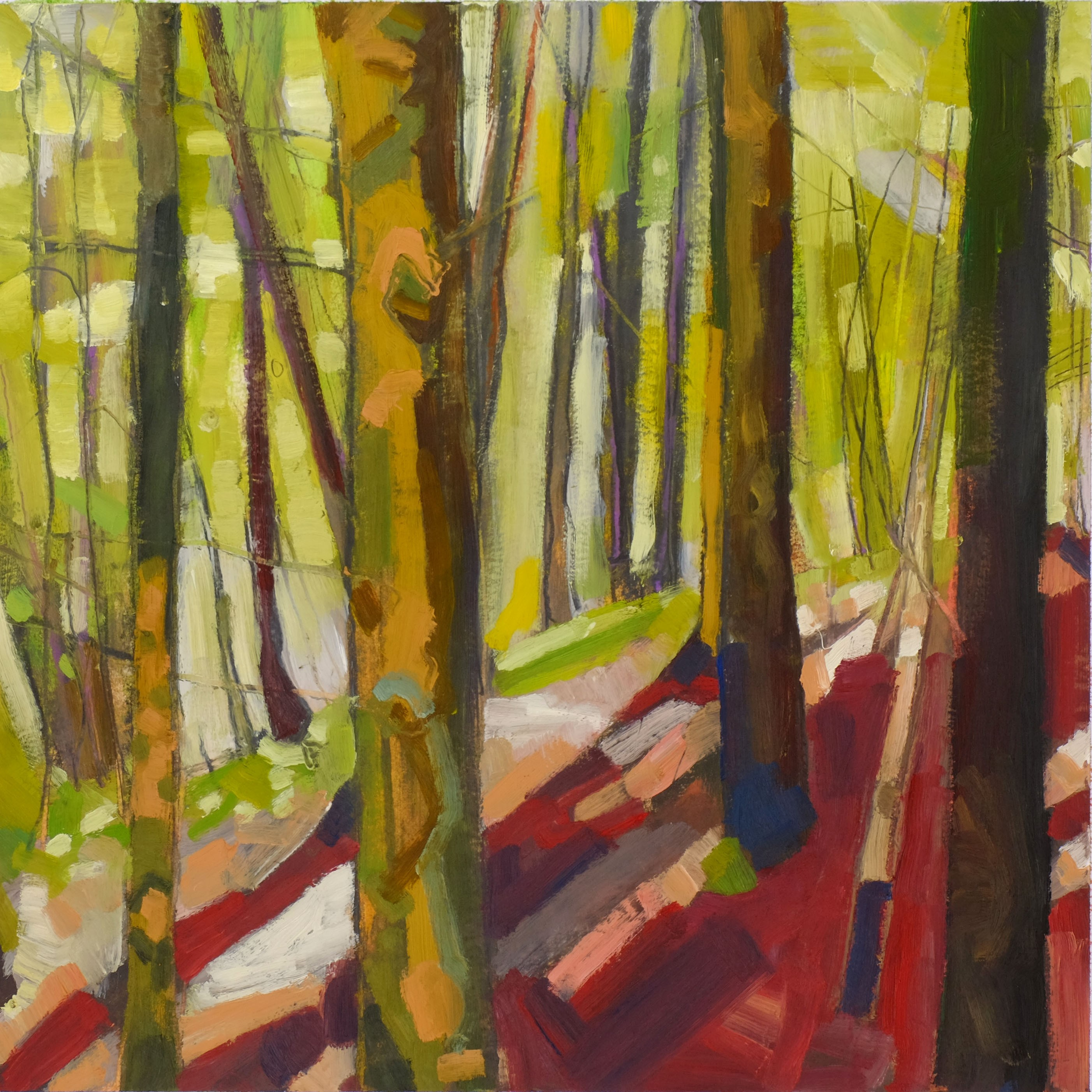 Woodland Study No 28 January 2019 30x30 Oil on paper