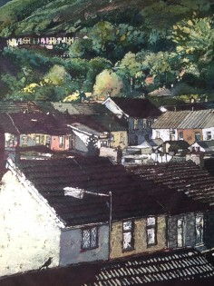 Catalogue Number: 12: Rhona Tooze 'Rook in the Valleys' (51 x 30 CM) Batik