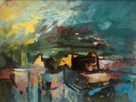 Farm, Swansea   30 x 40 cm   Acrylic
