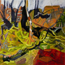"Michael Howard '""Caerfanell No.2 ""  (47cmx47cm) , Oil on Paper."