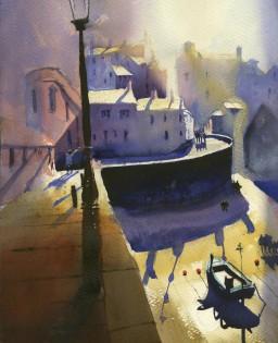 Tenby Midday Sun     35 x 30 cm    Watercolour