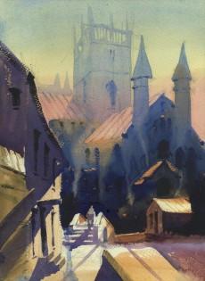 St. Davids Morning     40 x 30 cm    Watercolour