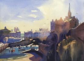 Tenby Panorama II     30 x 40 cm    Watercolour
