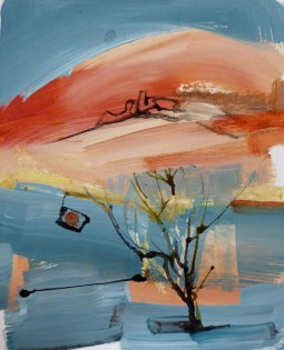 """""""Red Hill""""  oil on board (25x20 cms)"""