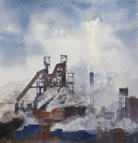 Full Steam Ahead    28x33 cm    Watercolour