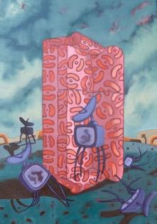 Aphrasia Events I  92 x 65 cm   Oil on canvas