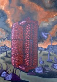 Aphrasia Events II   92 x 65 cm   Oil on canvas