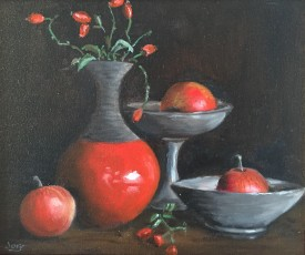 Apples & Rosehips, Oil, 24 x 29 cm, £350.jpg