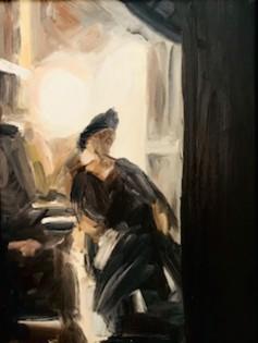 Rushing between Scenes     40 x 30 cm     Oil