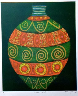 """Green Vessel"" Monotype (122x 26 CM)"