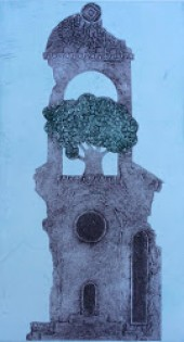 "Alan Williams ""Spero"" Collagraph 2/5  (12 x 39 CM)"