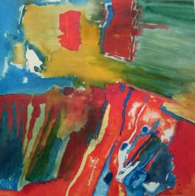 """Fusion1"" Acrylic, (32 x 32 cm)"