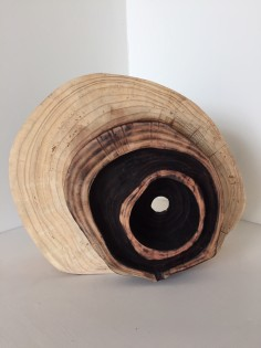 Chris Williams 'Blackened Heart' Wooden Sculpture Japanese Larch