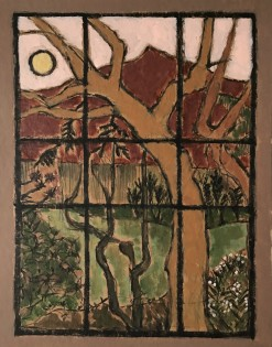 Dawn, Ojai     Charcoal & Acrylic     35 x 26.5 cm