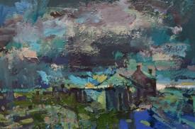 """Meirion Jones """"Farm in Ceredigion"""", Acrylic, (24 x 34 cms)"""