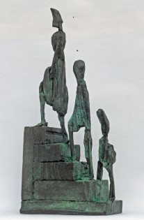 Wooden Hill,  H39.5 x 18.5 x D9 cm,  Weight 4.5 Kg, Bronze only edition of 9