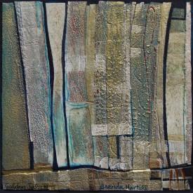 Brenda Hartill 'Golden July III' (36 x 33 CM) Framed Unique Mixed media