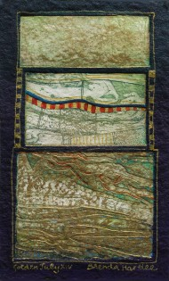 Brenda Hartill 'Golden July XIV' (29 x 21 CM) Framed Limited edition etching aquatint A/P