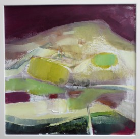 Green Patchwork   60 x 60 cm   Acrylic on canvas