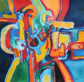 Derelict Machine     19 x 19 cm    Acrylic