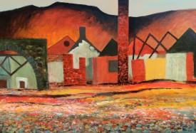 Industrial Dereliction, Lower Swansea Valley   Acrylic   93 x 67 cm