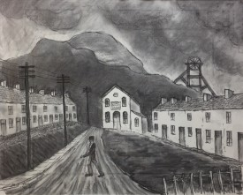 """Zoar Baptist Church"" (39 X 48 CM) Charcoal"