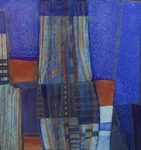 """""""Blue Plantation XII"""" Embossed Water Colour (30 X28 cm)"""