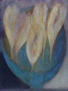 Vivienne Williams 'Crocus Bowl' Acrylic on Paper (30.5 X 23 cm)