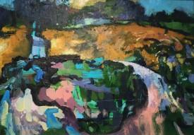 "Meirion Jones ""August in west Wales"", Oil, (10.5"" x 15"")"