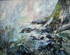 Tresaith    69 x 54 cm    Acrylic