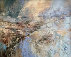 Dros y Mynydd Du / Black Mountain Snow    49 x 39 cm    Acrylic