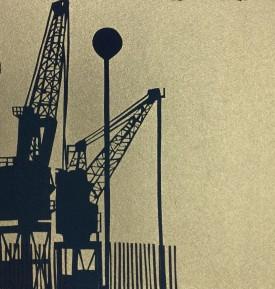 Docks IV    8x8 ins   Screenprint   2/15