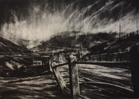 Sudden Storm on the Graig,  43x60 cm, Etching A/P