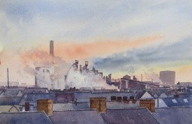 Steelworks Series No.22    36 x 55 cm    Watercolour